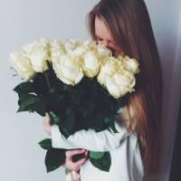 Белые розы R013
