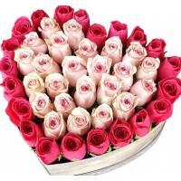Сердце из роз R024