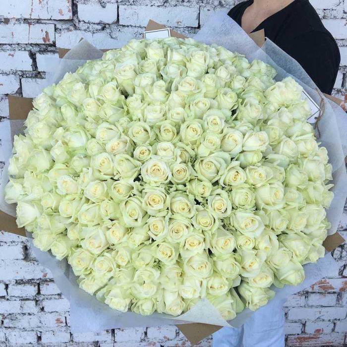 Букет 201 белая роза R024