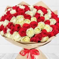 Белые розы R021